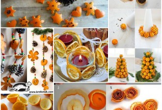 Αρωματική διακόσμηση με μανταρίνια και πορτοκάλια
