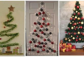 Δημιουργικές ιδέες για ένα Χριστουγεννιάτικο δέντρο όταν δεν υπάρχει χώρος