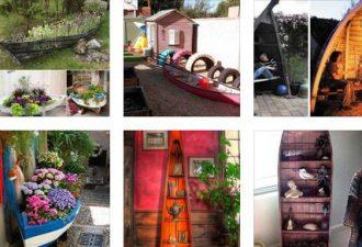 Έξυπνες ιδέες για εντάξετε μια παλιά βάρκα στη διακόσμηση του σπιτιού και του κήπου σας